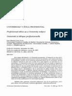 Universidad y Etica Profesional