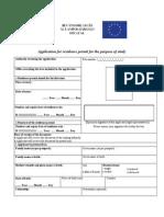 Macaristan Vize Oturma İzni Talep Formu