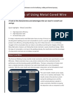 The Benefits of Using Metal Cored Wire