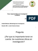 Aspectos Eticos de la Investigacion en Enfermeria en Mexico