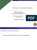 Các Phần Mềm Nguồn Mở Cho Toán - Open Source Software for Scientific Computing