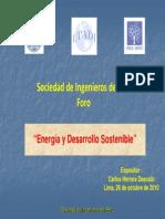 Foro Energía y Sostenibilidad 26-10-10 (Herrera Descalzi)