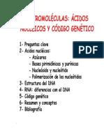 1023. Macromoleculas I - Acidos Nucleicos, El Codigo Genetico
