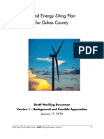 Wind Energy Siting Plan - Working Document Version 1 Draft