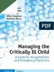 13Managing the Critically Ill Child-Freemedicalbooks2014