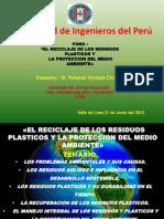 Foro Reciclaje de Los Residuos Plastico y La Proteccion Del Medio Ambiente