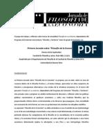 2da Circular- Filosofía de La Economía 2014