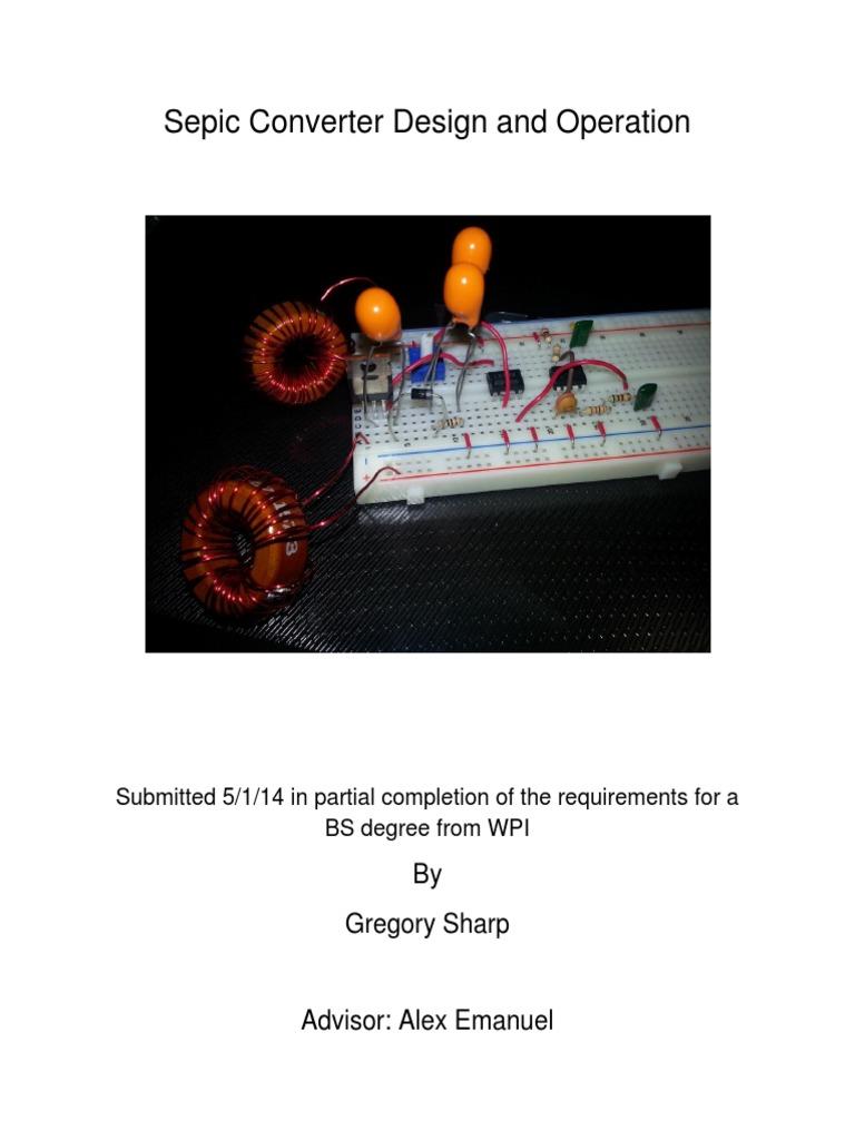 Sepic Mqp Final Reportpdf Electric Power Manufactured Goods Fig 3 Boost Converter Evaluation Board