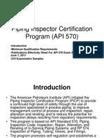 Genral Information for API 570 Exam