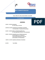 Agenda Competition Day