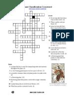 Classification of Plant Crossword