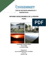 Informe Geoeconomico de La Region Piura