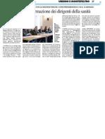 L'Ateneo farà la formazione dei dirigenti sanitari - Il Resto del Carlino del 20 dicembre 2014