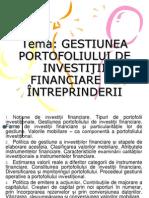 Gestiunea Investitii Financiare a Intreprinderii