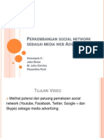 Perkembangan Social Network Sebagai Media Web Advertising