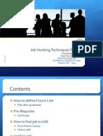 Job Hunting Techniques for UAE