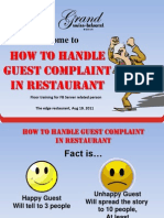 How to Handle Guest Complaint