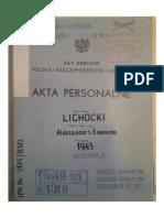 Plk Aleksander Lichocki Teczka WSW