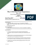 UT Dallas Syllabus for rhet1101.001.10s taught by Yolande Porter (yolande)