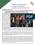 Boletín del Grupo Socialista del Cabildo de Tenerife 106. 15 - 21 de diciembre 2014