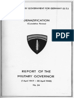 Office of the Military Government for Germany - Denazification
