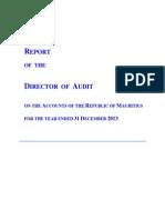 Le rapport de l'Audit rendu public
