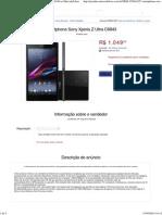 Smartphone Sony Xperia Z Ultra C6843 - R$ 1ww