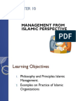 Chap. 10 - Management From Islamic Perspective