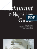 2010 Golden Triangle Restaurant & Night Life Guide