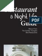 2010 Golden Triangle Restaurant & Night Life Guide