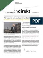 FRAKTION direkt - Nr. 28 | 19. Dezember 2014