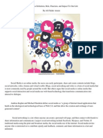 Social Media Role,Function,And Impact