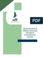 Jornadas de Control de Hormigon y Estructuras Para Obras de Plataforma en Alta Velocidad Sevilla