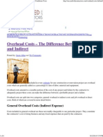 Defining Construction Overhead Costs and General Conditions Costs
