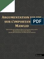 Argumentation solide sur l'importance du Mawlid