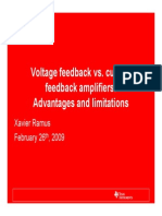 Current Feedback vs Voltage Feedback Amplifiers