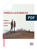Synthèse LF 2014 Présenté Par Salaheddine NADIF_BDO