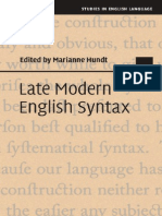 Marianne Hundt - Late Modern English Syntax [2014][a]
