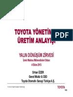 Toyota Yönetim ve Üretim Anlayışı
