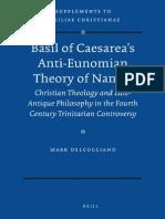 [VigChr Supp 103] Mark DelCogliano - Basil of Caesarea's Anti-Eunomian Theory of Names, 2010.pdf