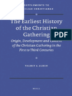 [VigChr Supp 102] Valeriy a. Alikin - The Earliest History of the Christian Gathering. Origin, Development and Content of the Christian Gathering in the First to Third Centuries, 2010