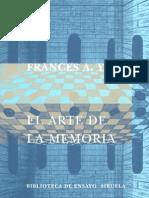 Yates, Frances - El Arte de La Memoria