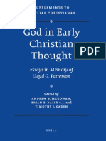 [VigChr Supp 094] Andrew_Brian_Mcgowan,_Brian_E._daley,_S._j._Gaden-God in Early Christian Thought - Essays in Memory of Lloyd G. Patterson