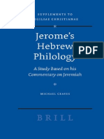 [VigChr Supp 090] Michael Graves - Jeromes Hebrew Philology. a Study Based on His Commentary on Jeremiah, 2007