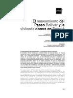 Saneamiento Paseo Bolivar