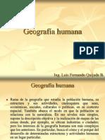 Geografía Humana y su composicion
