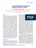 influence of aeroelastic effects on preliminary aerocraft design