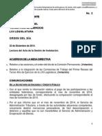 22-12-14 Orden del Día - Comisión Permanente