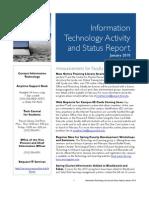 January 2010 IT Status Report