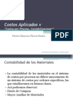 5.- Costos Aplicados 5, Costos Por Procesos Contabilizaciones, HFM 2014